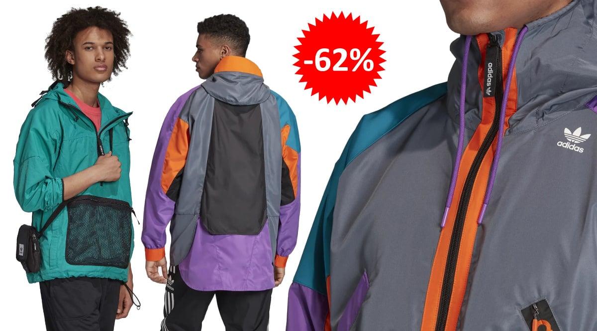 Chaqueta cortavientos Adidas PT3 Karkaj barata, ropa de marca barata, ofertas en chaquetas chollo1