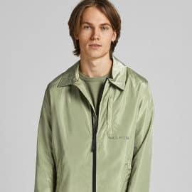 Chaqueta de entretiempo Jack & Jones verde barata, ropa de marca barata, ofertas en chaquetas