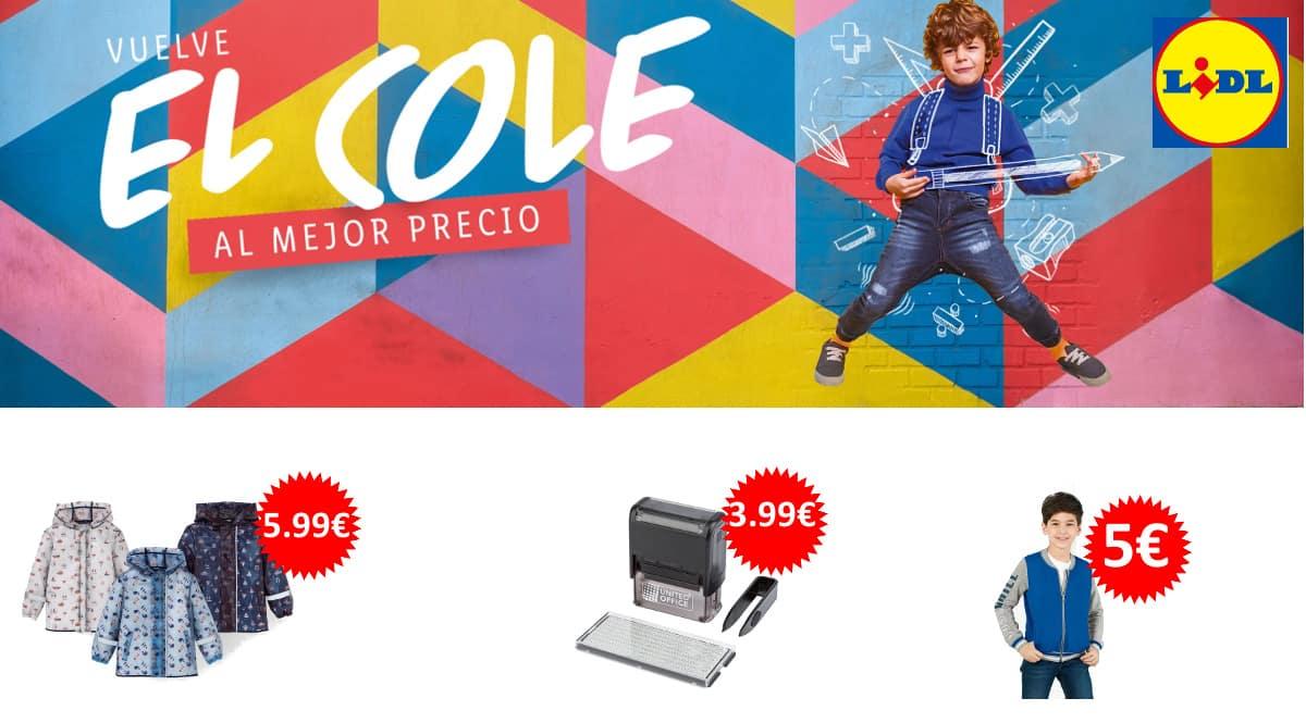 Chollos de Lidl para ahorrar en la Vuelta al cole, ropa para niños barata, ofertas en material escolar, chollo