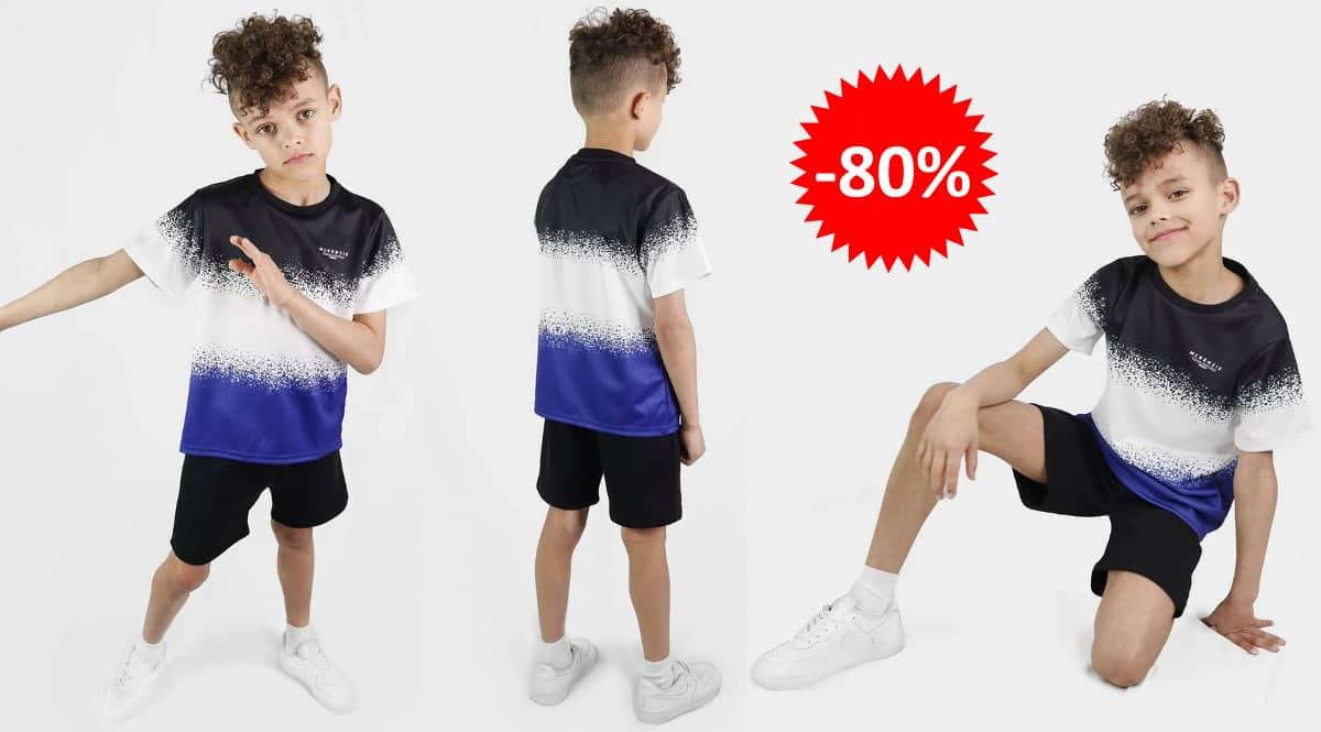 Conjunto de camiseta y pantalón corto McKenzie Mini Warren barato, ropa de marca barata, ofertas para niños chollo