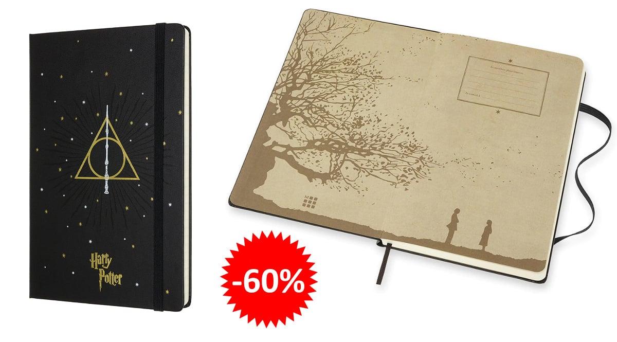Cuaderno Moleskine Harry Potter de edición limitada barato, libretas baratas, ofertas en papeleria chollo