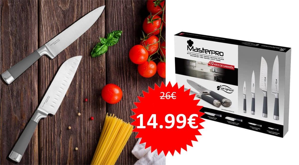 Cuchillos San Ignacio Masterpro baratos. Ofertas en menaje de cocina, menaje de cocina barato, chollo