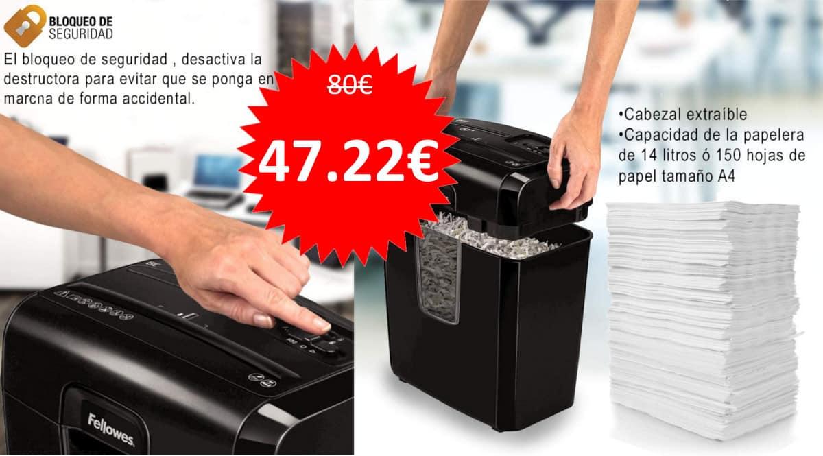 Destructora de papel Fellowes 8C barata. Ofertas en material de oficina, material de oficina barato, chollo