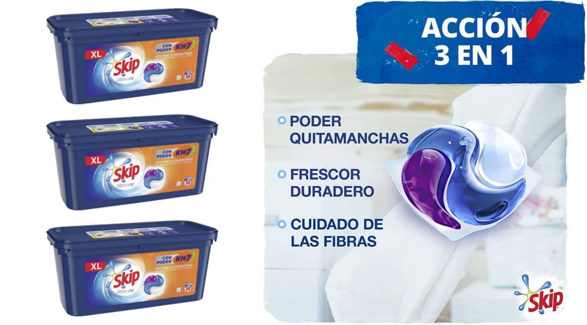 Detergente Skip Ultimate KH7 barato. Ofertas en supermercado, chollo