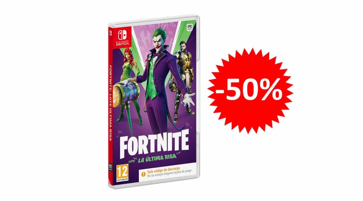 ¡Precio mínimo histórico! Fortnite Lote: La Última Risa para Nintendo Switch sólo 14.90 euros. 50% de descuento.