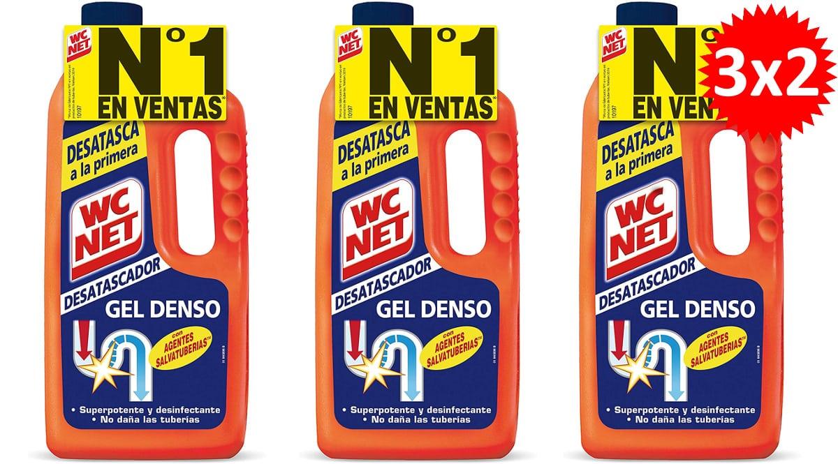 Gel desatascador de tuberías WC NET Energy barato, desatascadores tuberías de marca baratos, ofertas supermercado, chollo