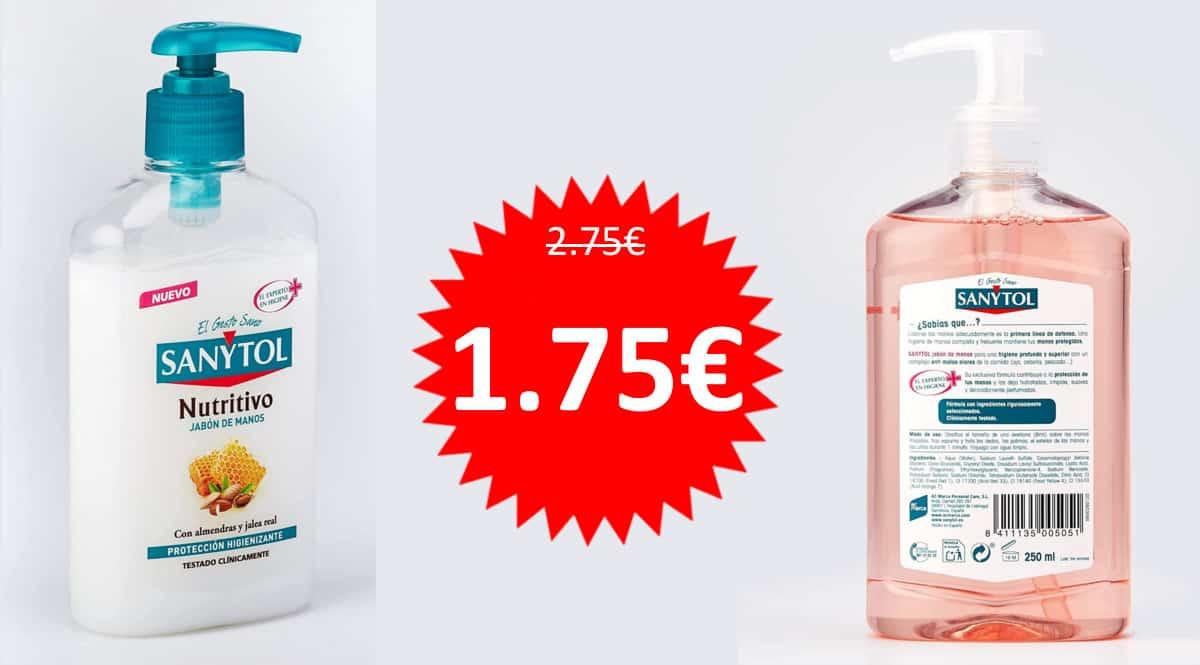 Jabón Sanytol Nutritivo Protección Total barato. Ofertas en supermercado, chollo