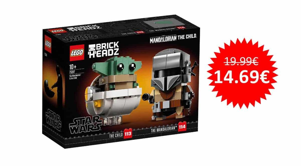 ¡¡Chollo!! LEGO Star Wars – El Mandaloriano y el Niño sólo 14.69 euros.