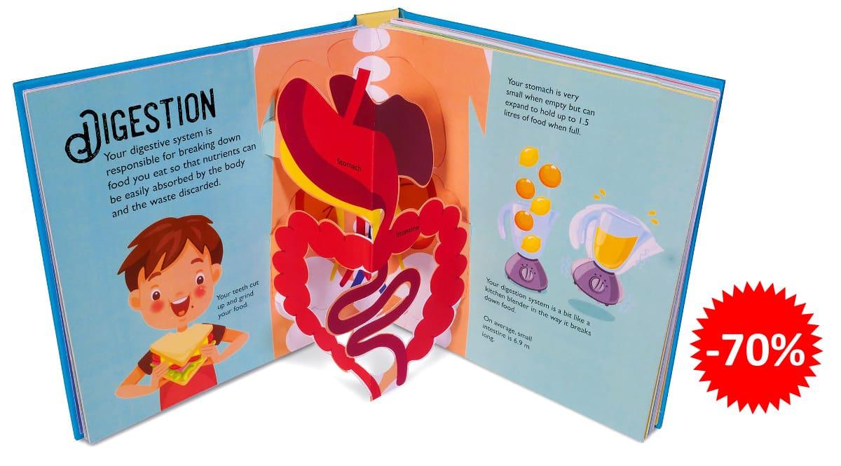 Libro infantil pop up en inglés Human Body barato, libros baratos, ofertas para niños chollo