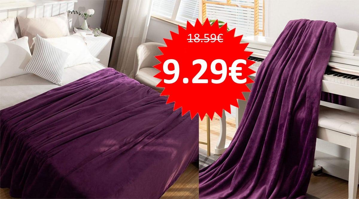 Manta de 150x200cm barata. Ofertas en ropa de cama, ropa de cama barata, chollo