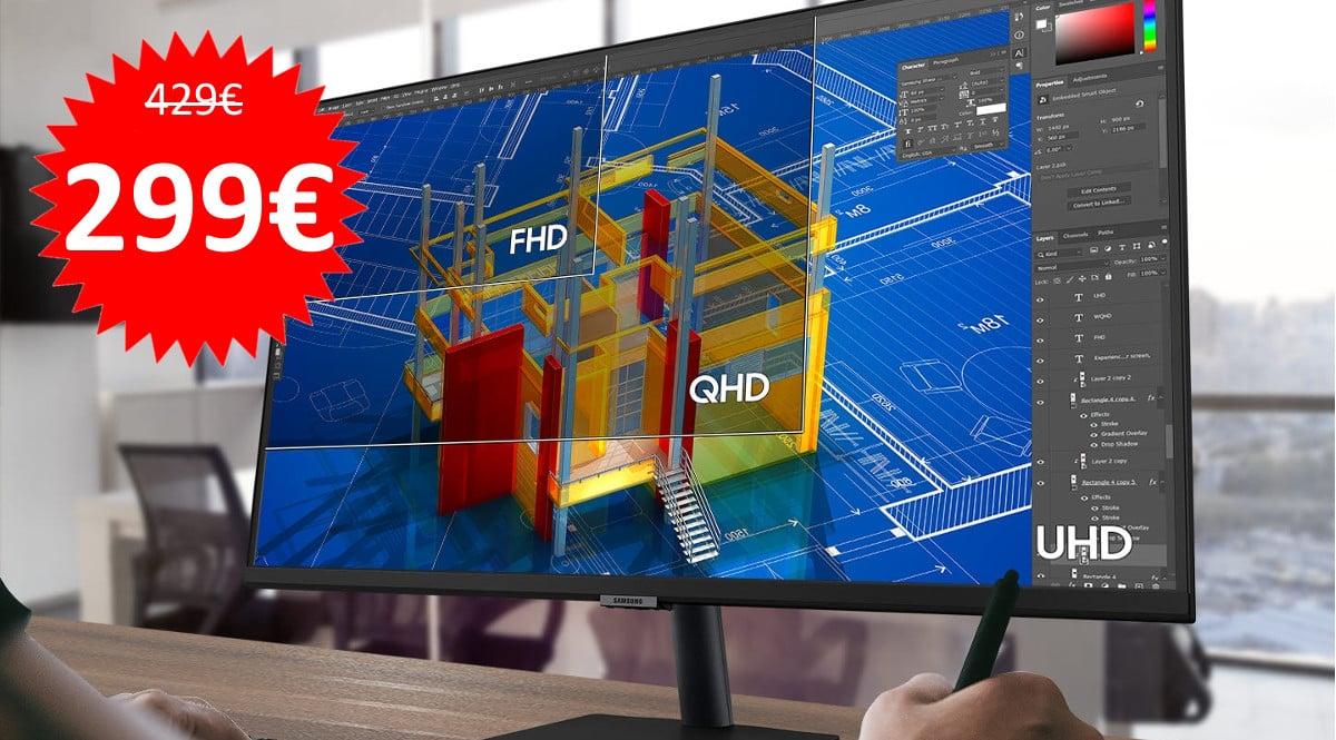 Monitor de 32 pulgadas Samsung S32A700NWU barato. Ofertas en monitores, monitores baratos, chollo