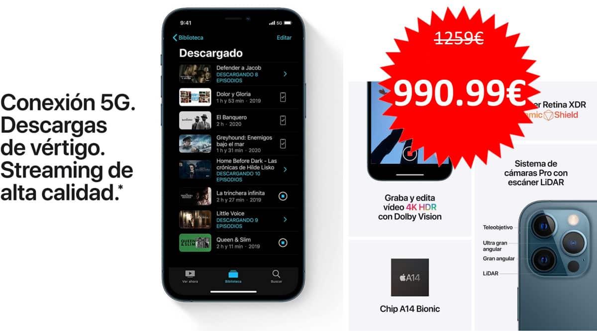 Móvil Apple iPhone 12 Pro Max de 128GB barato. Ofertas en móviles, móviles baratos, chollo