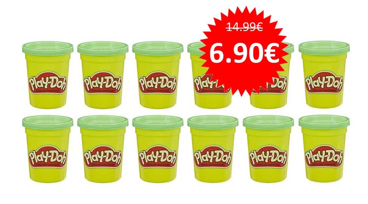Pack de 12 botes de plastilina Play-Doh verde barato. Ofertas en juguetes, juguetes baratos, chollo