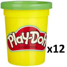 Pack de 12 botes de plastilina Play-Doh verde barato. Ofertas en juguetes, juguetes baratos