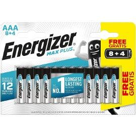 ¡Precio mínimo histórico! Pack de 12 pilas alcalinas AAA / LR03 Energizer Max Plus sólo 5.99 euros.
