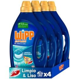 Pack de 120 lavados de detergente líquido Wipp Express Limpio y Liso barato. Ofertas en supermercado