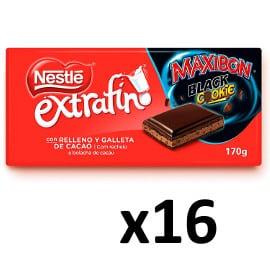 ¡¡Chollo!! Pack de 16 tabletas de chocolate Nestlé extrafino Maxibon Black Cookie sólo 18.92 euros.