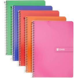 Pack de 5 libretas Enri A5 cuadriculadas. Ofertas en papelería, ofertas de la vuelta al cole