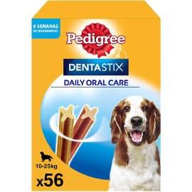 Pack de 56 Dentastix para perros medianos baratos, productos para mascotas baratos, ofertas para perros