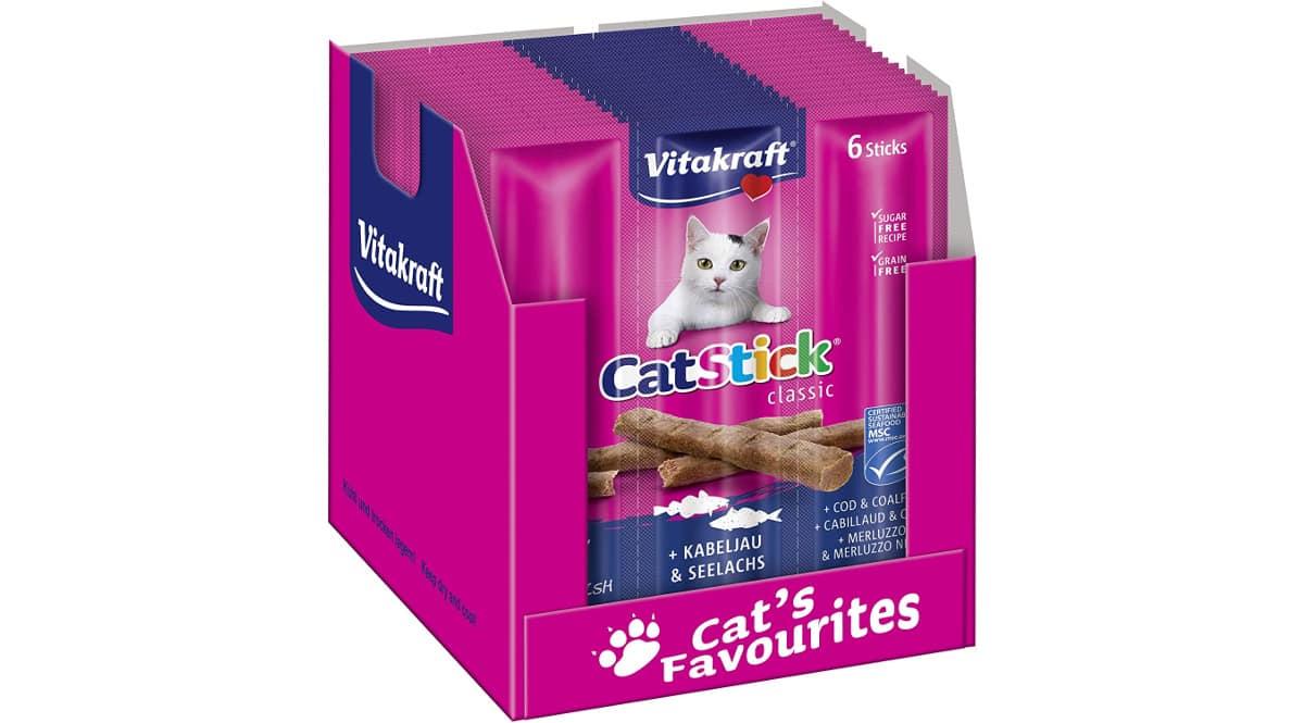 Pack de aperitivos para gatos Vitakraft barato, comida para gatos de marca barata, ofertas supermercado, chollo