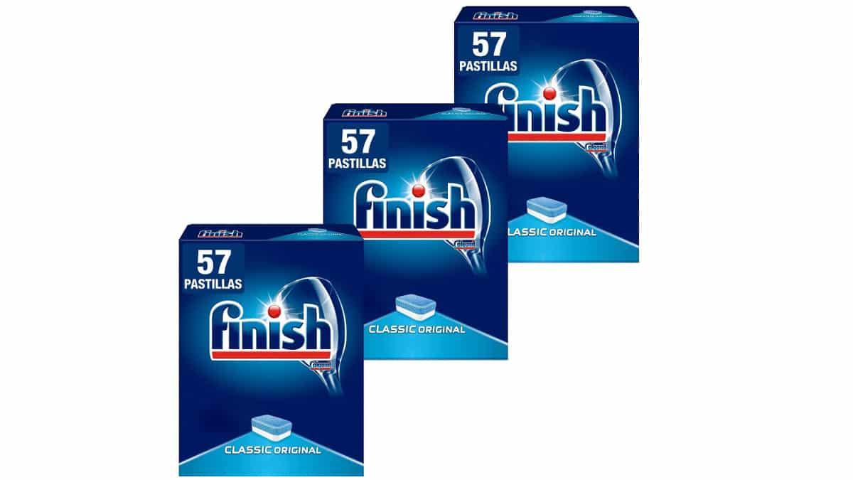 Pack de lavavajillas Finish Classic Original bratas, pastillas de lavavajillas baratas, ofertas en supermercado, chollo.