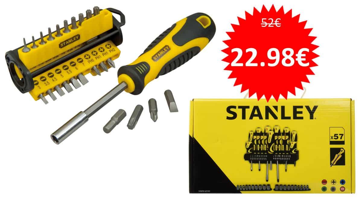 Pack destornilladores y destornillador multipunta Stanley barato. Ofertas en herramientas, herramientas baratas, chollo