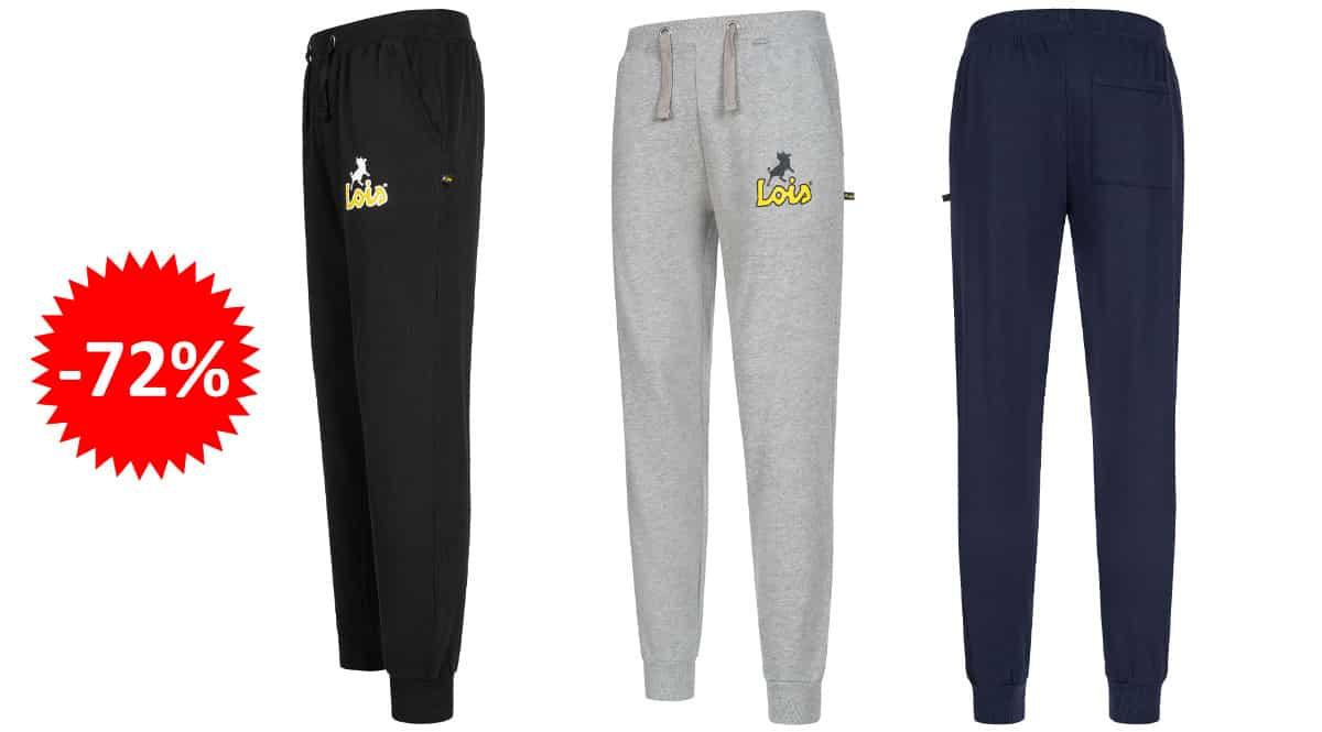 Pantalones de chándal Lois Jeans baratos, ropa de marca barata, ofertas en pantalones chollo