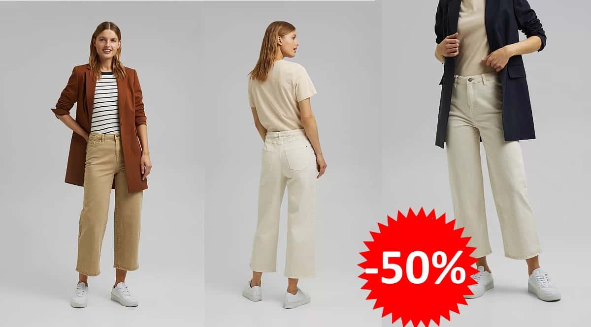 Pantaon Esprit pernera ancha barato, pantalones de marca baratos, ofertas en ropa, chollo