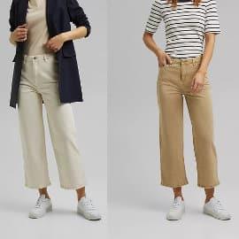 Pantaon Esprit pernera ancha barato, pantalones de marca baratos, ofertas en ropa