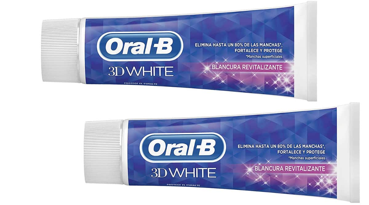 Pasta de dientes Oral-B 3D White barata, dentífrico barato, ofertas en supermercado, chollo
