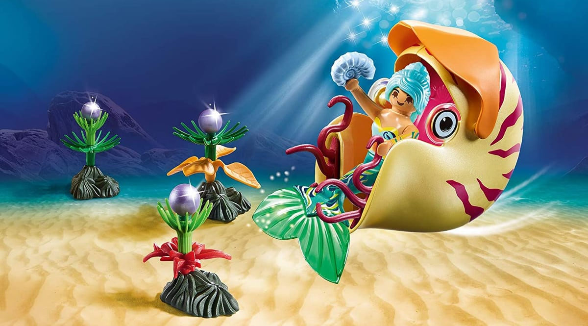 Playmobil Sirena con caracol de mar barato, juguetes baratos, ofertas para niños chollo
