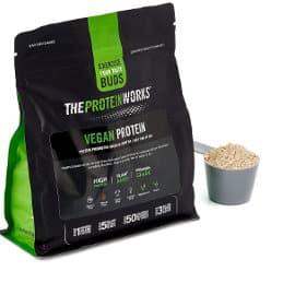 Proteína vegana sin gluten THE PROTEIN WORK chocolate y caramelo barata, proteínas de marca baratas, ofertas alimentación saludable