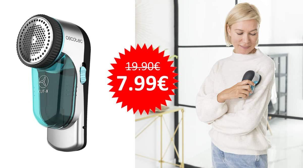 ¡Precio mínimo histórico! Quitapelusas eléctrico sin cables Cecotec Cut-X sólo 7.99 euros. 60% de descuento.