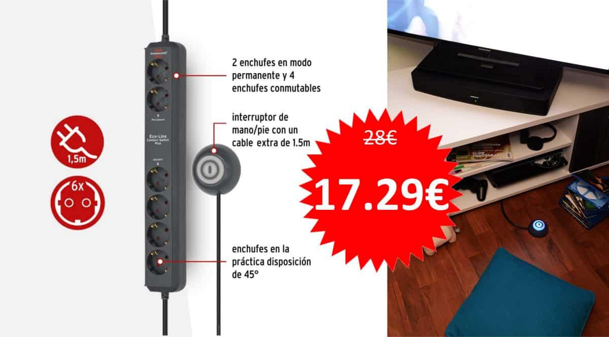 Regleta Brennenstuhl Eco-Line Confort Switch Plus.