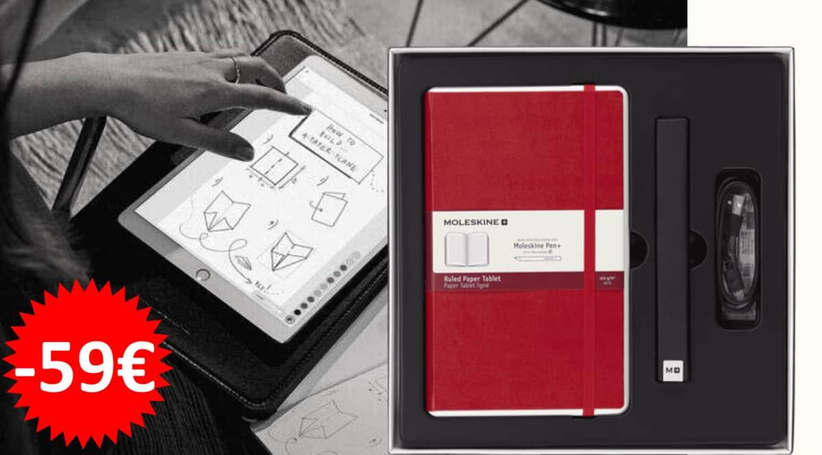 Set de escritura digital Moleskine Smart Writing barato, cuadernos digitales baratos, ofertas oficina y papelería, chollo