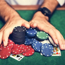 Set de póker Relaxdays barato, juegos baratos, ofertas en juegos de cartas