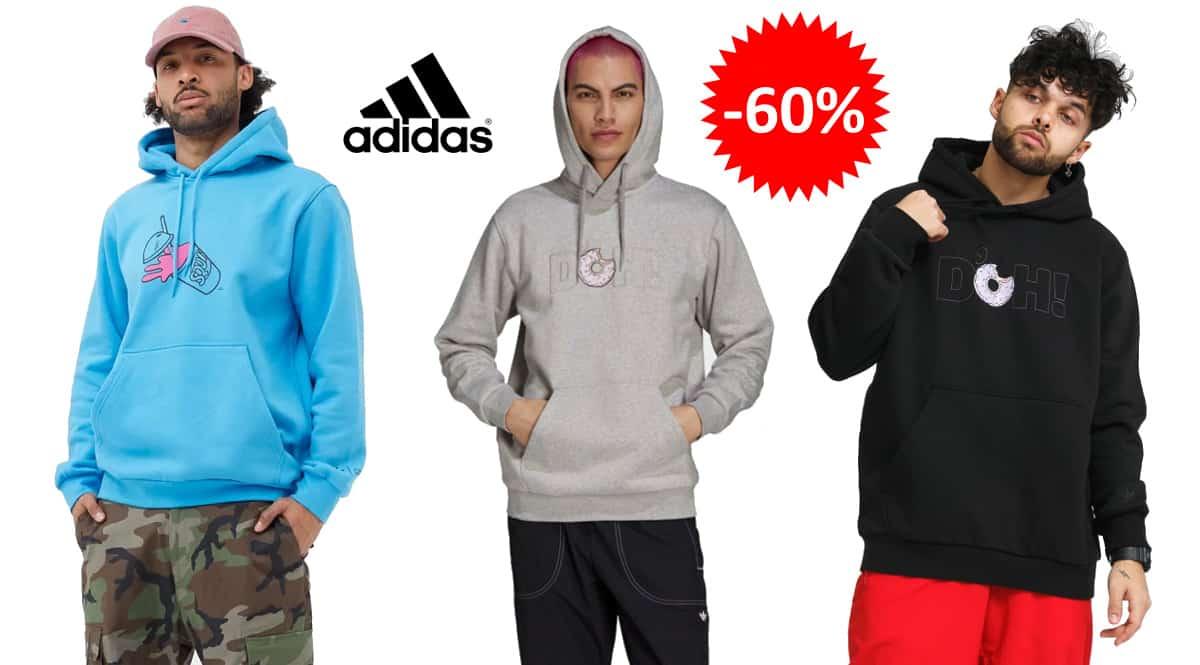 Sudadera Adidas x Simpsons baratas, ropa de marca barata, ofertas en sudaderas chollo