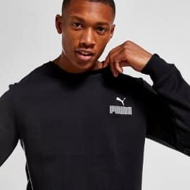 Sudadera Puma Core Small Logo negra barata, ropa de marca barata, ofertas en sudaderas