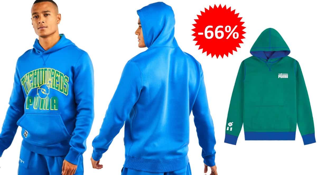 Sudadera reversible Puma x The Hundreds barata, ropa de marca barata, ofertas en sudaderas chollo