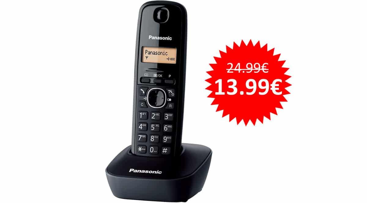 ¡¡Chollo!! Teléfono fijo inalámbrico Panasonic KX-TG1611SPH sólo 13.99 euros.