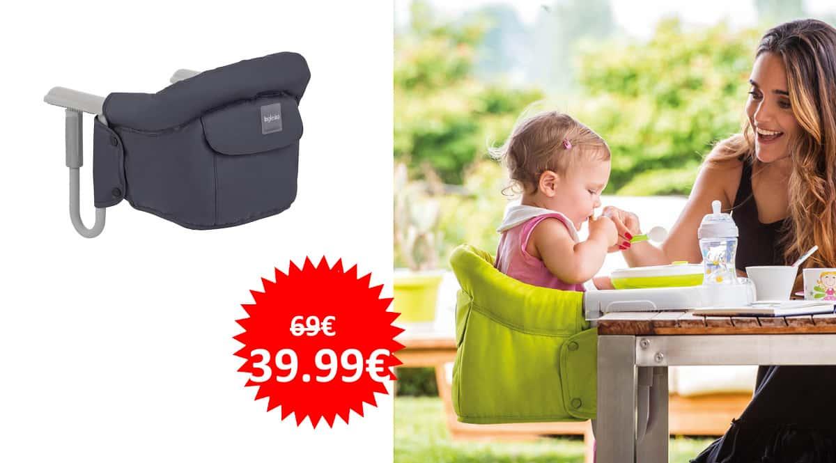Tona portátil Inglesina Fast barata, tronas de viaje baratas, ofertas para bebés, chollo