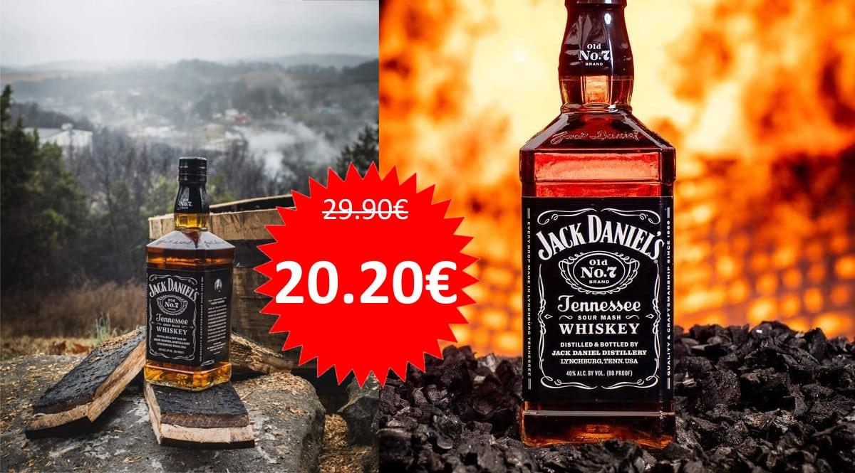 Whisky Jack Daniel's con petaca barato. Ofertas en whisky, whisky barato, chollo