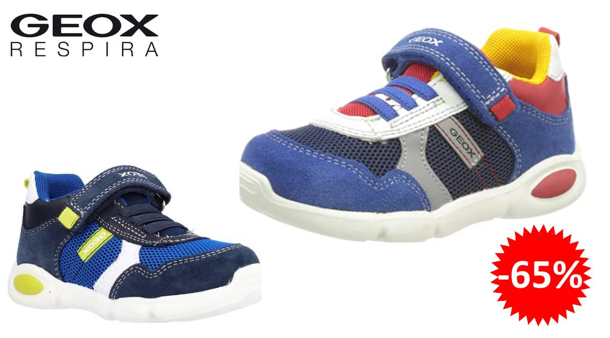 Zapatillas para niño Geox B Pillow Boy A baratas, zapatillas de marca baratas, ofertas en calzado, chollo