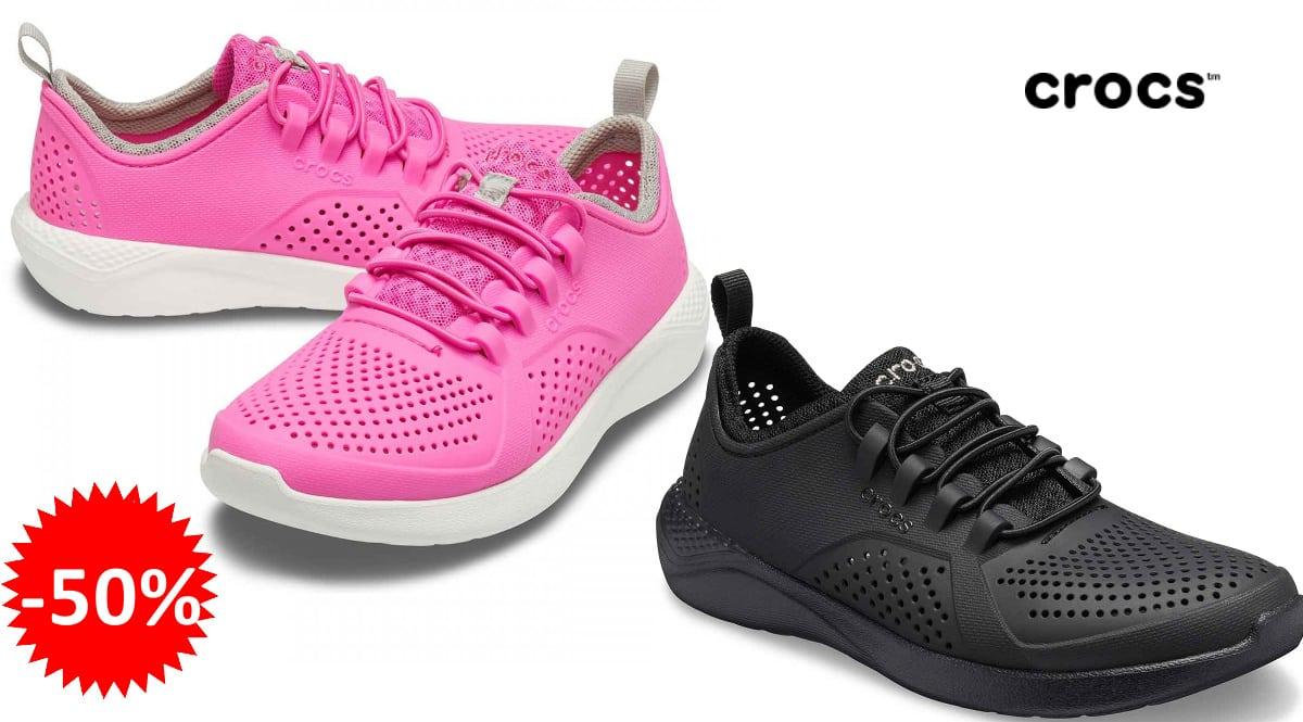 Zapatillas para niños Crocs Literide Pacer K baratas, zapatillas de marca baratas, ofertas en calzado para niño, chollo