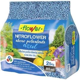 ¡¡Chollo!! Abono polivalente azul Flower Nitroflower 2.5kg sólo 4.09 euros. 50% de descuento.