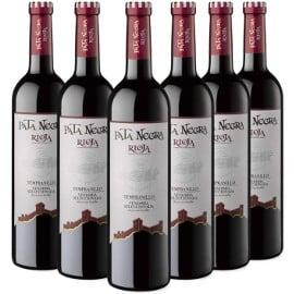 ¡¡Chollo!! Caja de 6 botellas de vino tinto D.O. Rioja Pata Negra Vendimia Seleccionada sólo 20 euros.