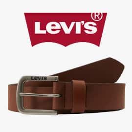 Cinturón de piel Levi's Seine barato, ropa de marca barata, ofertas en complementos