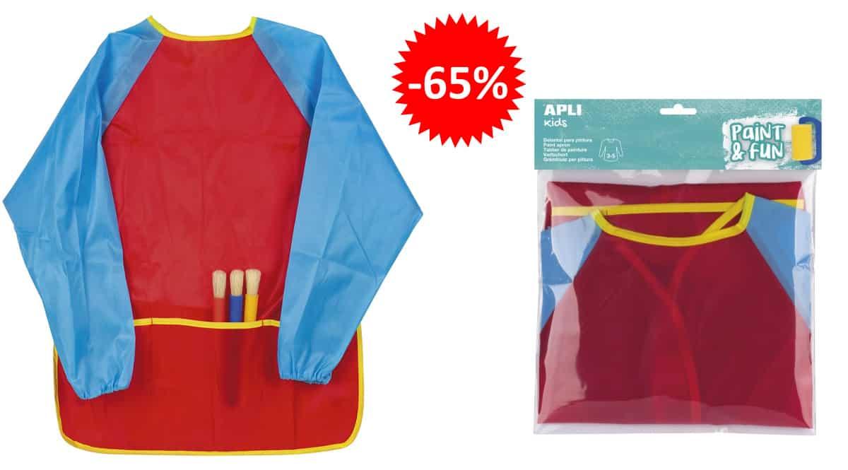 Delantal de pintura para niños Apli barato, ropa para niños barata, ofertas para niños chollo