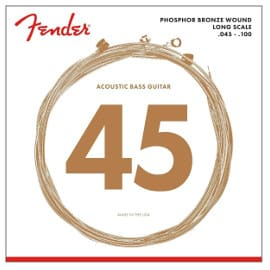 ¡Precio mínimo histórico! Juego de cuerdas Fender para bajo acústico sólo 12.98 euros.