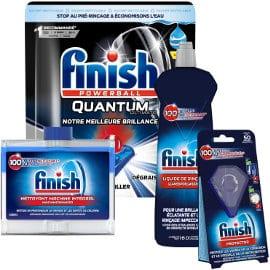 Kit lavavajillas Finish Powerball Quantum Ultimate barato, lavavajillas de marca barato, ofertas supermercado